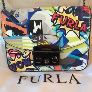 NEW FURLA MINI METROPOLIS GRAFFITI CROSSBODY BAG
