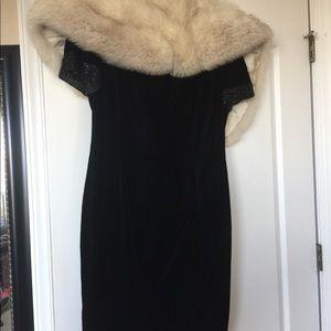 Maggy London Velvet Black Sequin Dress