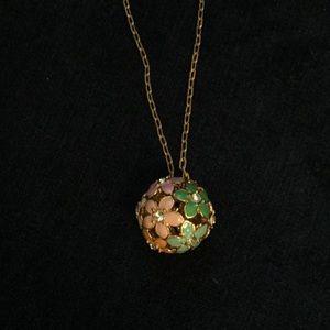 J Crew Bouquet Ball long necklace