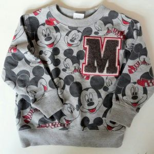 Disneys mickey mouse sweatshirt and hat