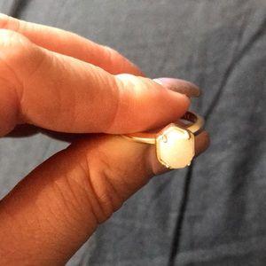 Kendra Scott Calvin gold ring w/ iridescent drusy