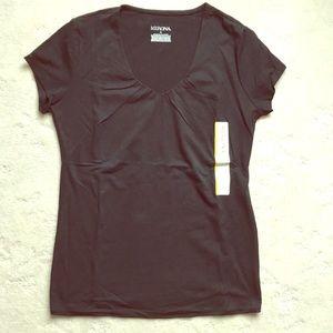 Black Classic Fit vNeck Cut Tshirt, NWT