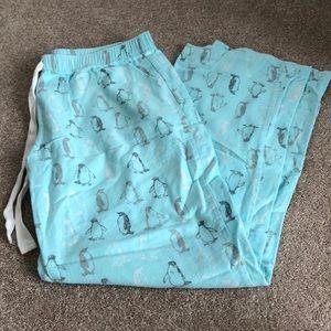 Flannel Penguin PJ Pants