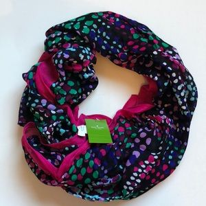 Kate Spade multi dotty oblong scarf