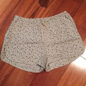 Brandy Melville White Floral Shorts