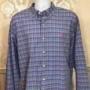 Men's Ralph Lauren Blue Plaid Button Down Shirt