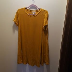 Mustard swing tunic