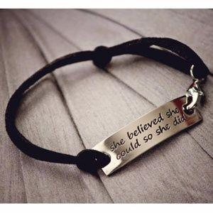 Jewelry - Inspirational Leather Bracelet
