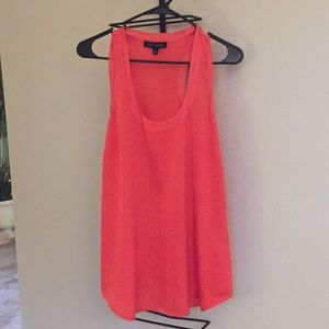 Coral racer back tank from Banana Republic