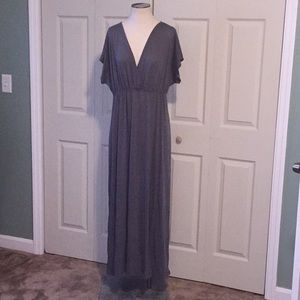 Gray plus maxi dress