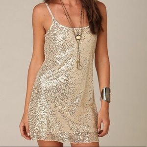 Free people intimates sheer sequin dress