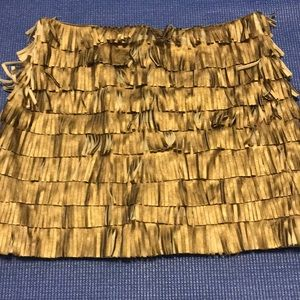 Gold Fringe Skirt