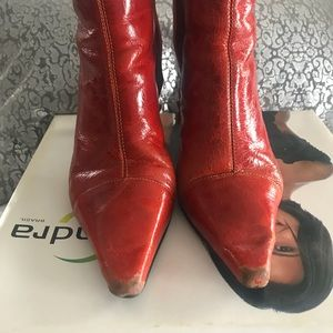 sandra brasil Shoes - Rugged Leather Ankle Boots.