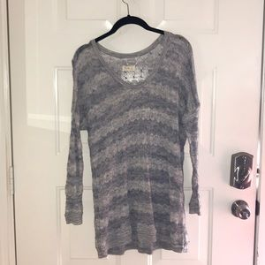 Lou and Grey Sheer Gray Sweater