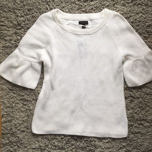 White half sleeve sweater top