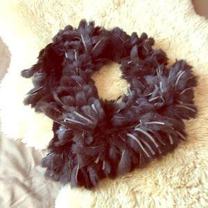 Dark chocolate fur scarf