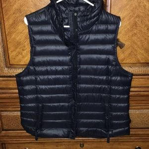 Black gap down vest