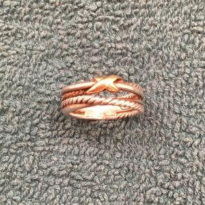 David Yurman X Crossover Ring Silver Gold