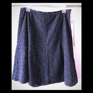 J.Crew eyelet skirt size 6 100% cotton