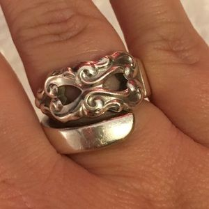 Vintage Antique 💯 Sterling Silver Spoon Ring 💍