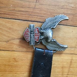 Genuine leather harley davidson belt