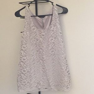 Silver lace tank from LOFT