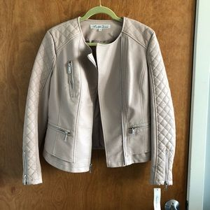 Kenneth Cole Blush Leather Jacket NWT