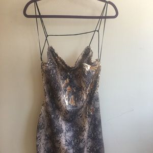 Topshop sparkly dress