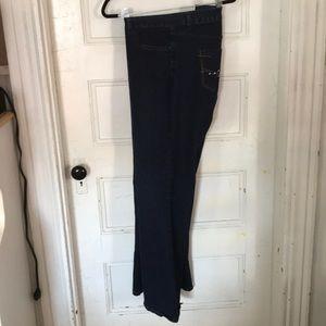 Embellished pocket Bootcut Jeans