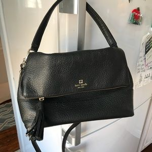 Kate Spade Black Foldover Crossbody/Shoulder Bag