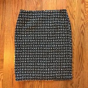 Talbots Black/White Boucle Skirt