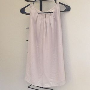 Silver LOFT tank with zip back