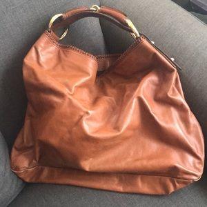 Large Leather GUCCI Horsebit Hobo