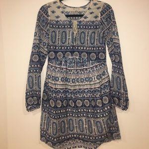 Billabong boho Indian print babydoll dress XS