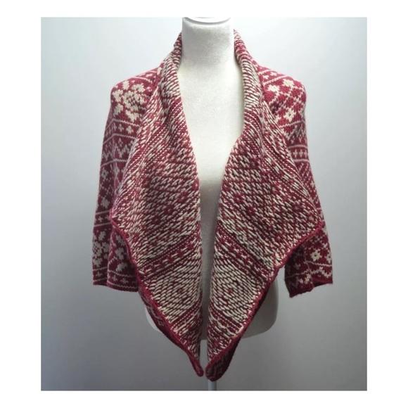 CAbi - CAbi large wrap Sweater Cardigan Fair Isle #971 from ...