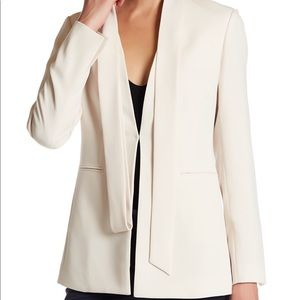Theory admiral crepe jacket in pearl ivory size 4