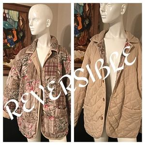 Reversible Quilted Jacket Size 18 NWOT