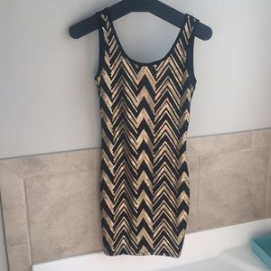 Black & gold chevron sequin dress (NYE DRESS)