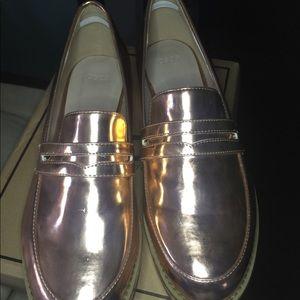 c8c7281bbe6 ASOS Shoes - ASOS Rose Gold More Time Flatform Loafers
