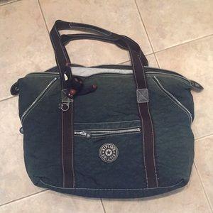 Kipling navy tote weekender bag