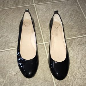 Vince Camuto Black Patent Leather Flats