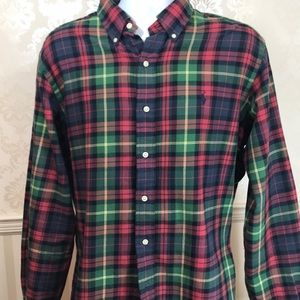 Men's Ralph Lauren Plaid Flannel Button Down Shirt