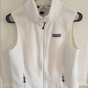 VV White Polar Fleece Vest