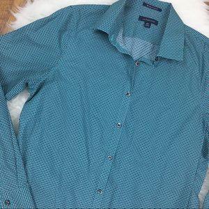 Lands' End No Iron Supima Button Up Dress Shirt