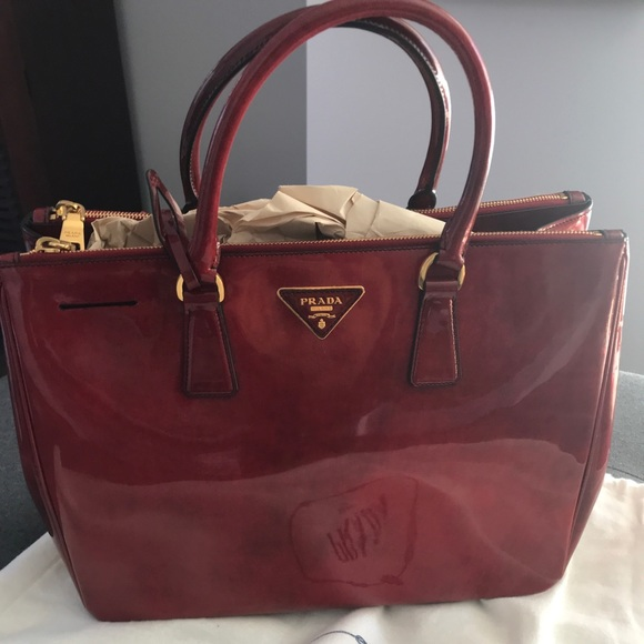 6dd57a354c6a Prada Bags | Limited Edition Patent Leather Red Tote | Poshmark