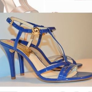 Michael Kors Blue strappy heels size 8