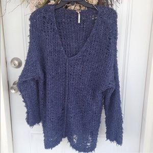 Free people distressed sweater
