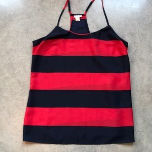 J. Crew Red & Navy Tank Top
