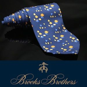 Brooks Brothers 346  Blue Under The Sea  Fish 🐠