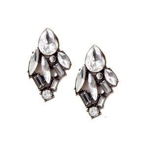 Antique Deco Crystal Studs